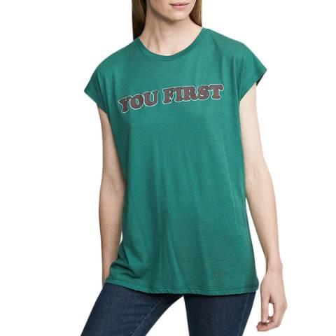 Zoe Karssen Antique Green Loose Kimono Sleeve T-Shirt