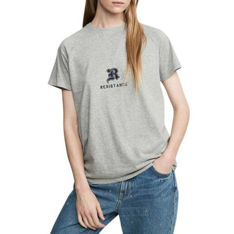 Zoe Karssen Grey Heather Loose Fit T-Shirt