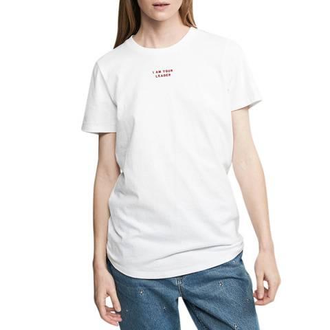 Zoe Karssen Optical White Loose Fit T-Shirt