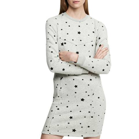 Zoe Karssen Grey Heather Slim Fit Sweater Dress