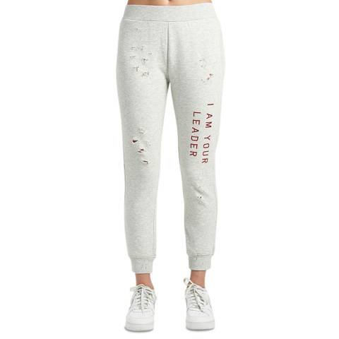 Zoe Karssen Grey Heather Slim Fit Cropped Sweatpants