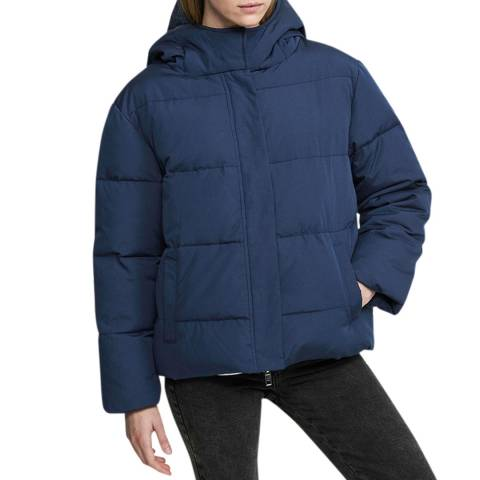 Zoe Karssen Navy Relaxed Fit Puffer