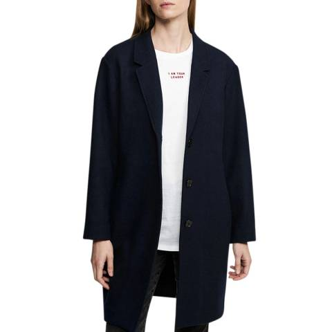 Zoe Karssen Medieval Blue Relaxed Fit Coat