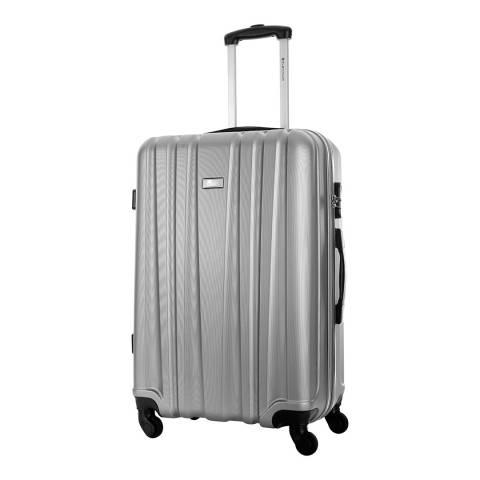 Platinium Silver Akina 4 Wheel Suitcase 66cm