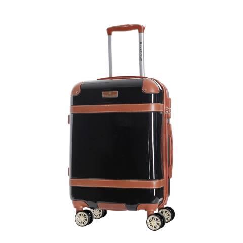 Platinium Black Venicia 8 Wheel Suitcase 66cm
