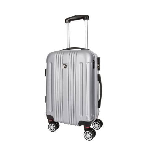 Platinium Silver Stafford 8 Wheel Suitcase 56cm