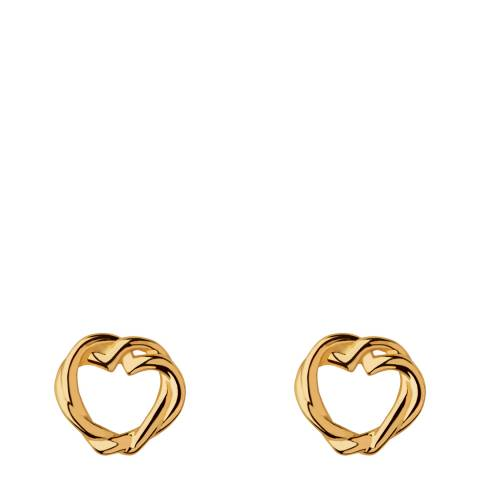 Links of London Yellow Gold Kindred Soul Stud Earrings