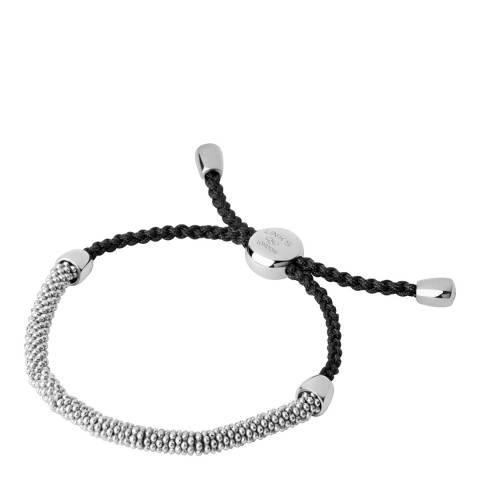 Links of London Silver/Grey Cord Bracelet