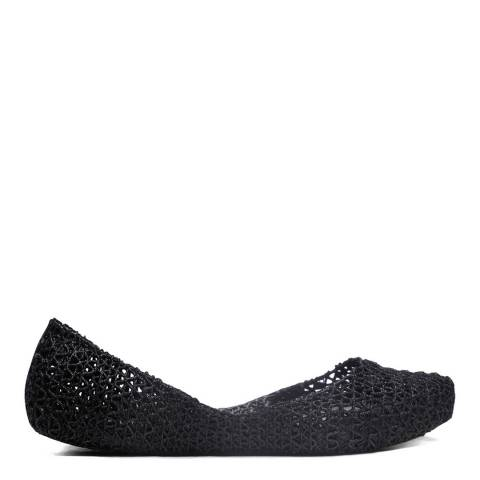 Melissa + Campana Black Campana Papel Glitter Shoe