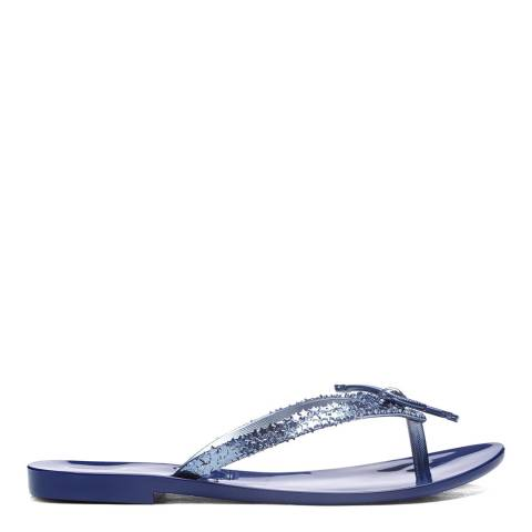Melissa Midnight Mel Harmonic Elements Chrome Flat Sandals