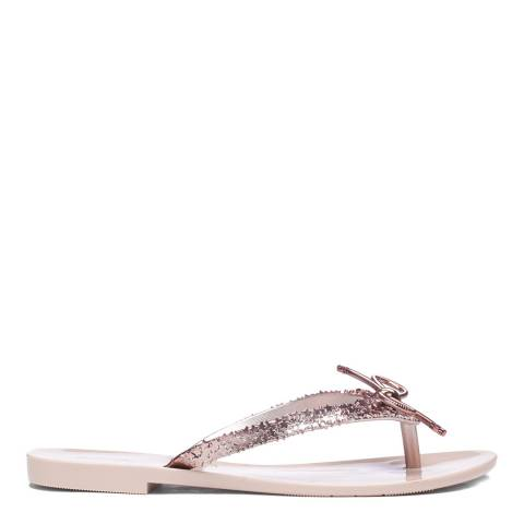 Melissa Rose Mel Harmonic Elements Chrome Flat Sandals