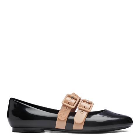 Vivienne Westwood for Melissa Black Contrast Vivienne Westwood for Melissa Doll Flat Shoes