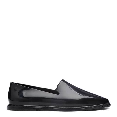 Melissa Black Prana Glossy Finish Flat Loafers