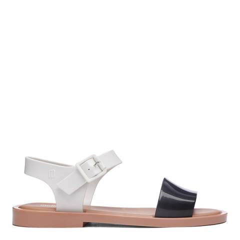 Melissa Black Contrast Mar Flat Buckle Sandals