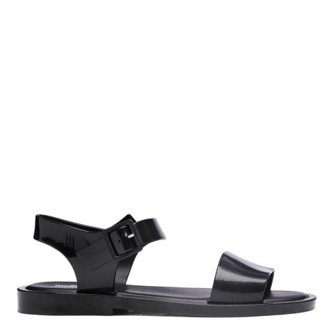 Melissa Black Mar Flat Buckle Sandals