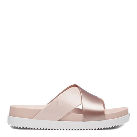 Melissa Blush Cosmic Cross Slide Sandals