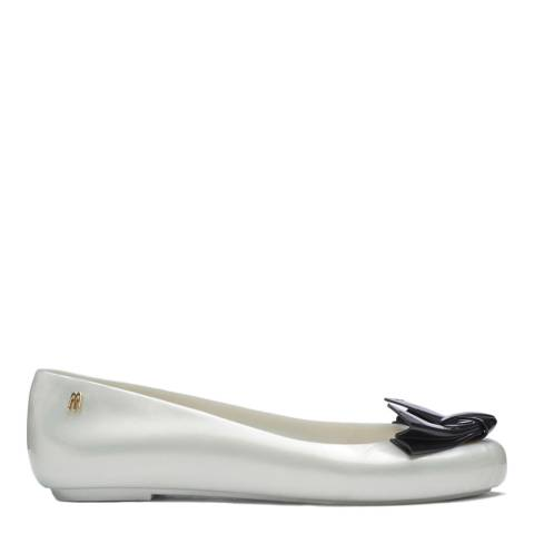 Melissa Pearl Contrast Space Love Arrow Bow Pallet Pumps