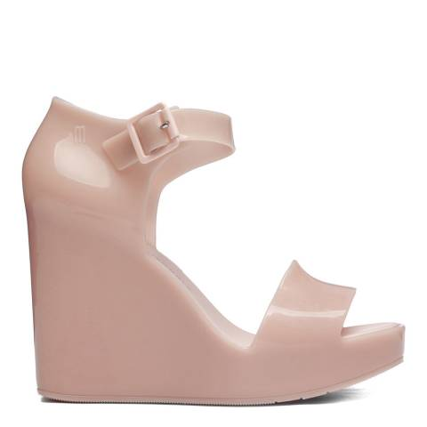 Melissa Blush Mar Wedge Glossy Sandals