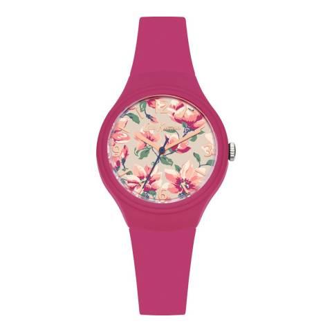 Cath Kidston Dark Pink Magnolia Watch