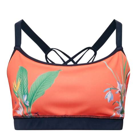 Ted Baker Red Bract Tropical Oasis Sports Bra