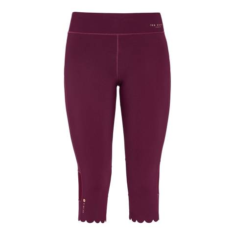 Ted Baker Maroon Mitzzi Panelled Scallop Hem Leggings