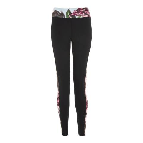 Ted Baker Black Pilata Eden Paneled Leggings