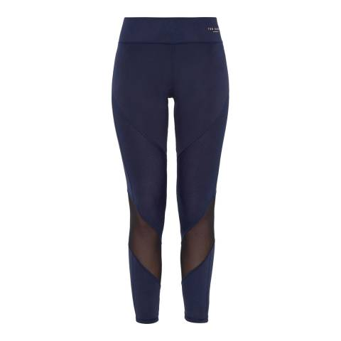 Ted Baker Navy Atcro Mesh Leggings