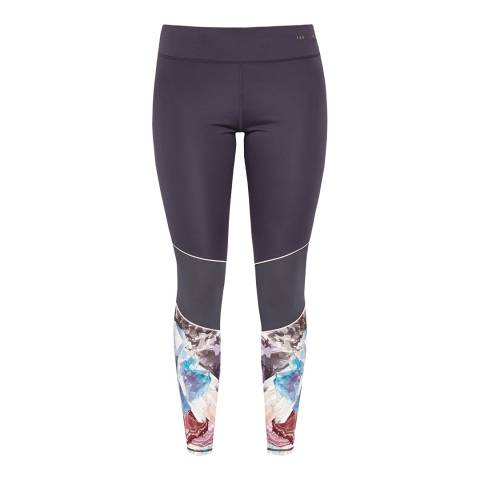 Ted Baker Dark Grey Yogar Minerals Mesh Leggings