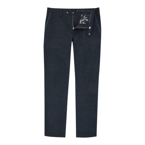 Ted Baker Navy Ondaway Water-Repellent Golf Trousers