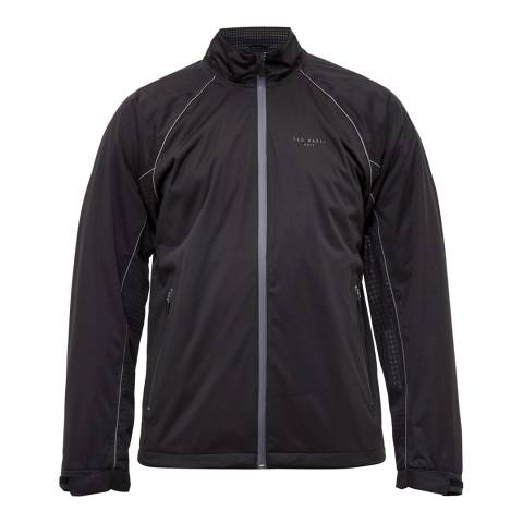 Ted Baker Black Swanson Waterproof Golf Jacket