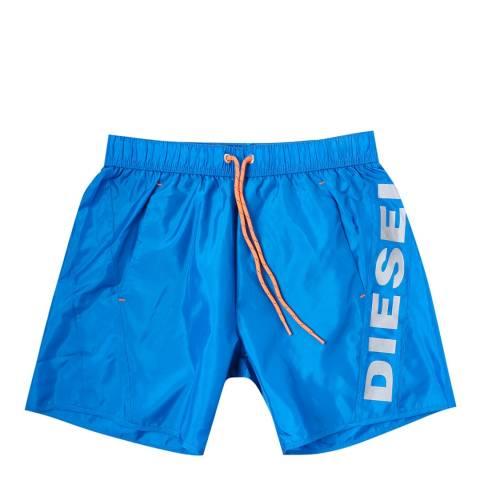 Diesel Bright Blue/Orange Swim Trunks