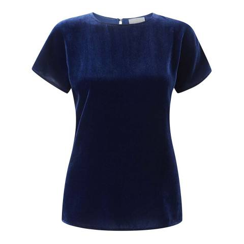 Pure Collection Midnight Silk Velvet T-Shirt