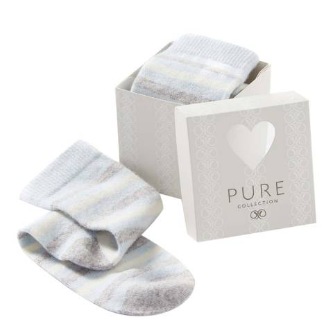Pure Collection Blue Stripe Sock Gift Box