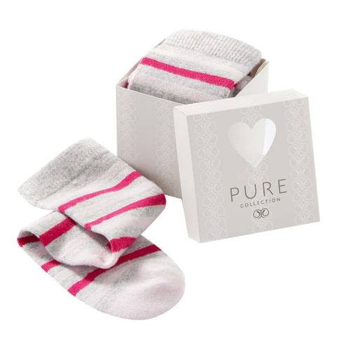 Pure Collection Pink Stripe Sock Gift Box