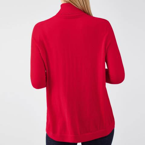 cf3904607 Pure Collection Red Ultra Soft Merino Polo Sweater. prev. next. Zoom