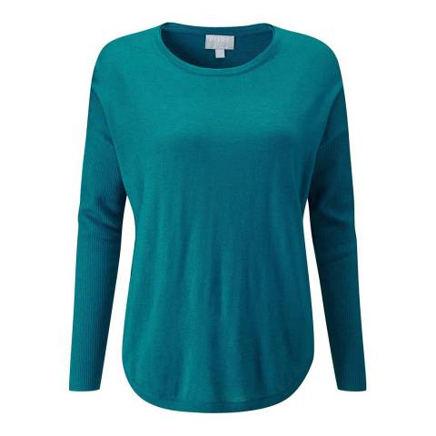Pure Collection Teal Ultra Soft Merino Jumper