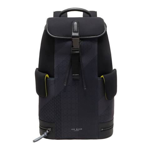 Ted Baker Black Olly Printed Neoprene Backpack