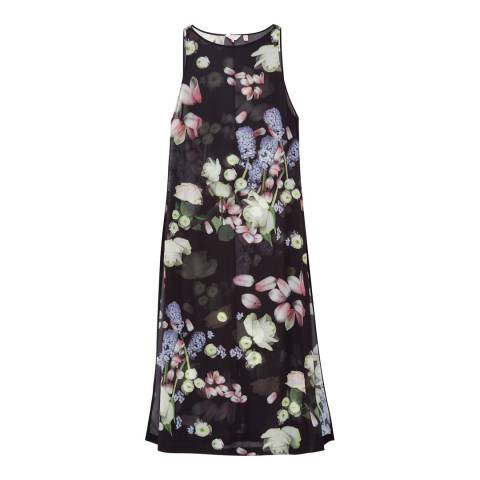 Ted Baker Black Joyra Kensington Floral Cover Up Maxi Dress