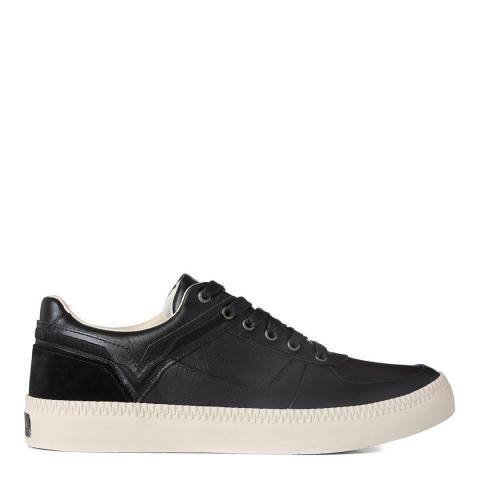 Diesel Black Spaark Leather Sneakers