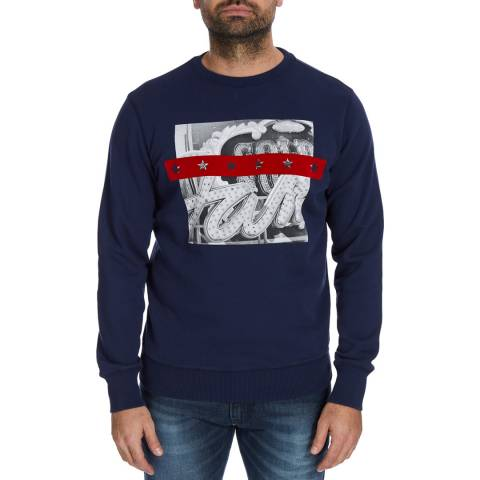 Diesel Blue Joe Print Sweatshirt