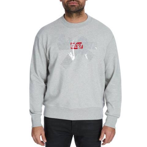 Diesel Grey Bay Logo Print Sweatshirt