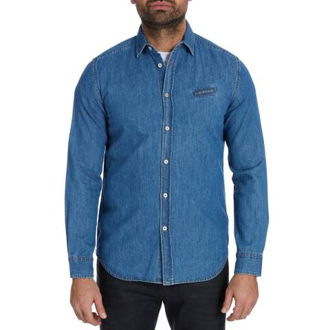 Diesel Blue Denim Berry Cotton Shirt
