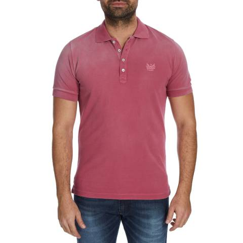 Diesel Pink T-Night Cotton Polo Top