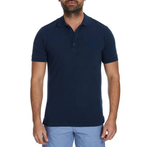Diesel Navy T-Night Cotton Polo Top