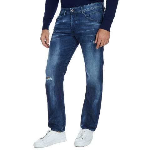 Diesel Distressed Blue Belther Slim Stretch Jeans