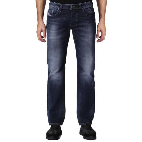 Diesel Washed Denim Larkee Straight Stretch Jeans