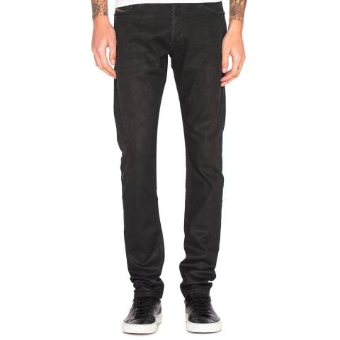 Diesel Black Denim Tepphar Slim Stretch Jeans