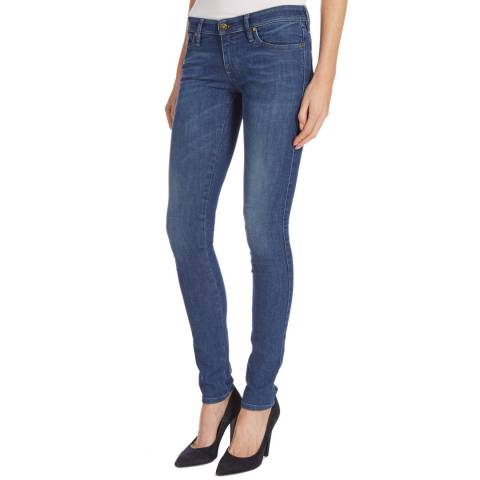 Diesel Blue Denim Skinzee Low Rise Stretch Jeans