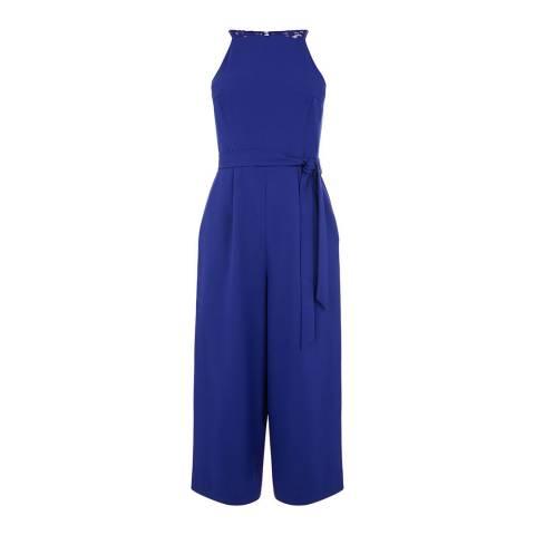 Oasis Rich Blue Lace Back Jumpsuit