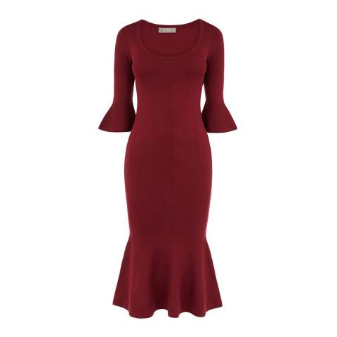Oasis Burgundy Jessica Knit Dress